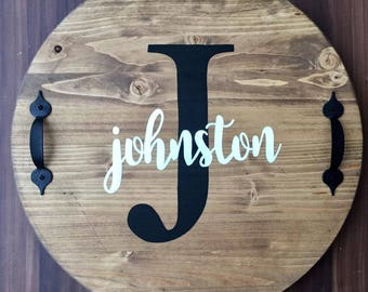 personalized tray rounds