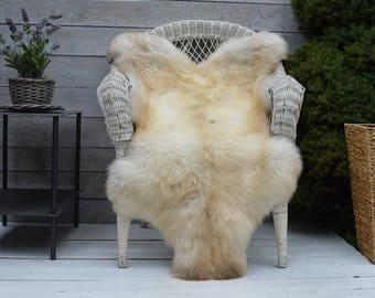 Unique No.449 Luxury Sheepskin Rug, Throw, Blanket, Very Rare Breed Multi - Size XL