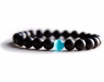 Handmade Water Drop Bracelet - Semi-Precious Natural Stones (8mm)