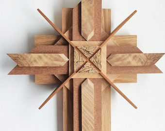 Wooden Cross Using Reclaimed Woods, A True Symbol Of Our Faith