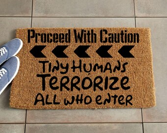 Caution Doormat/Custom Doormat/Custom Welcome Mat/Personalized Doormat/Personalized Welcome Mat/Door Mat/Funny Doormat/lego doormat