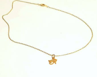Eye of Horus Gold Necklace