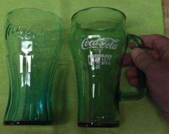1960's Coca Cola Glass & Mug.