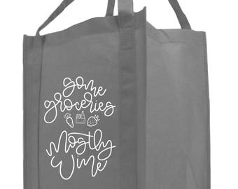 Some Groceries, Mostly Wine | Grocery | Tote Bag