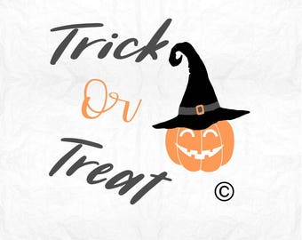 trick or treat pumpkin SVG Clipart Cut Files Silhouette Cameo Svg for Cricut and Vinyl File cutting Digital cuts file DXF Png Pdf Eps
