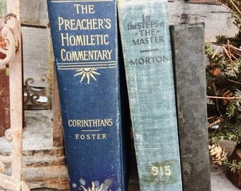 Old Books - 1896 Preacher's Homiletic Commentary & other Old Religious Books