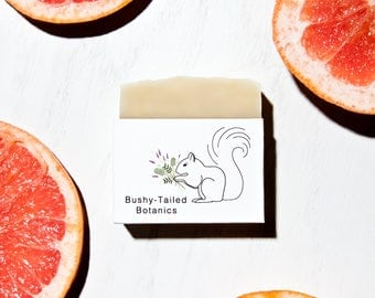 All-Natural Grapefruit Soap