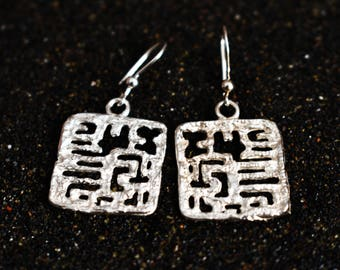 -back earrings 925 Silver earrings hook