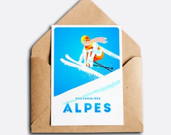 Souvenir of the Alps - Vintage greeting card