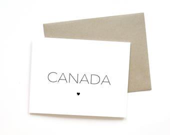Canada Love | Card || Greeting Card | Canada 150 | Travel Card | Simple Card | Minimalist Card