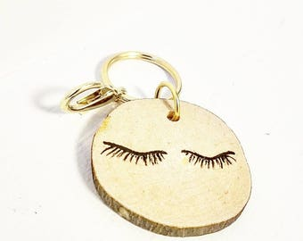 SKINNY WOOD Keychain, porte clés, wood bois, charm breloque, made in Canada fait au Québec, gifts under 20, gift ideas