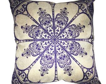 Star Damask Jaquard Throw Pillow 17 x 17 Pillow Man Cave Pillow