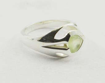 engaging Silver Aqua Chalcedony Gemstones Sterling Silver Ring gemstone gift