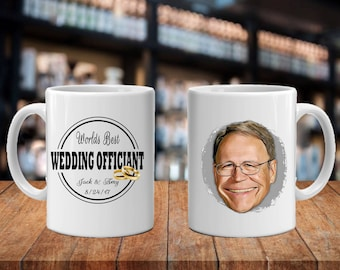 Pastor Gift Ideas, Cartoon, Worlds Best Officiant Caricature Guy's Gift Idea, Officiant Gifts, Portrait Gift Idea, Thank You for Marrying Us