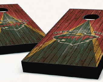 Minnesota Wild Cornhole Boards