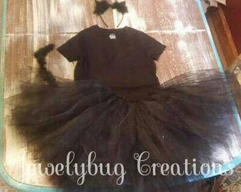 Kitty cat tutu costume, kids to adult sizes