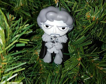 Game of Thrones Christmas Ornament Robb Stark (black and white) En Memoriam