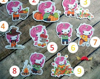 Fall Unicorn Die Cuts