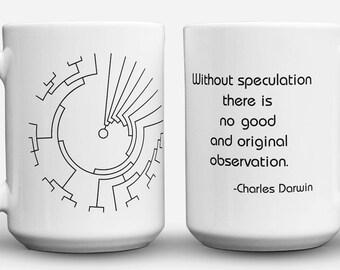 Darwin Quote and Phylogenetic Tree mug