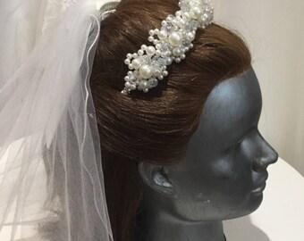 Bridal tiara,bridal hairband,bridal accessories, bridal hair jewellery,gift for bride.