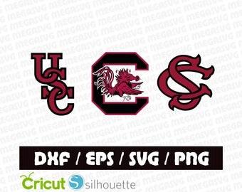 South Carolina Gamecocks Svg Dxf Eps Png Cut File Pack