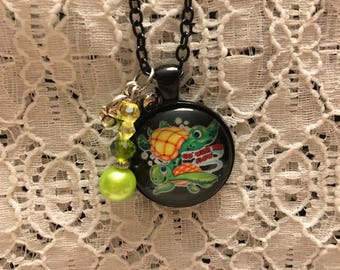 Baby Turtles Charm Necklace/Turtles Charm Necklace/Turtle Jewelry/Sea Turtle Jewelry/Go With the Flow Necklace