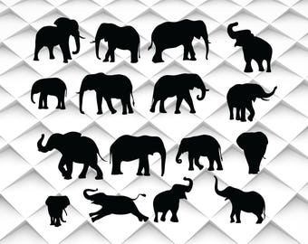 Elephant svg,jpg,png,eps for Design/Print/ Silhouette Cameo/Cricut and Many More