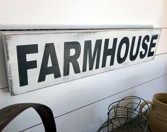 Farmhouse Sign  | Farmhouse Decor | Wood Signs | Fixer Upper | Primitive Sign | Rustic Sign