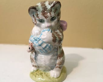 """BEATRIX POTTER's """"Miss Moppet""""- 1954- Made in England- BESWICK- cat figurine"""