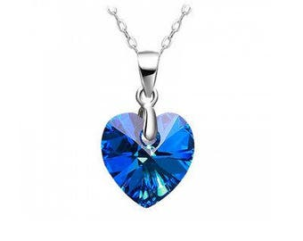 Blue Heart Silver necklace