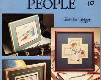 Professional People Cross Stitch Book by Terrie Lee Steinmeyer - Leisure Arts - Leaflet 756