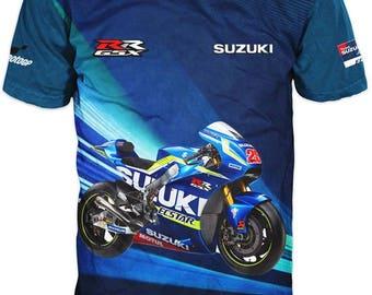 New Ultramodern 3D High Quality Suzuki Ecstar Racing Mens  T-shirt