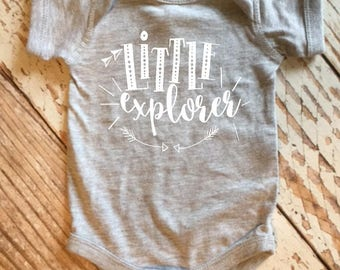 Little Explorer Baby Onesie