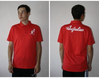 Free shipping! australian by l'alpina vintage polo