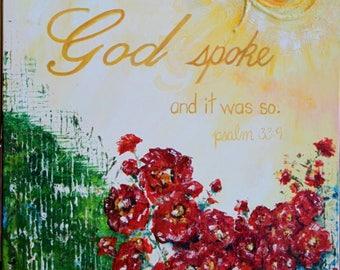 God Spoke....