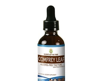 Comfrey Leaf Alcohol FREE Liquid Extract, Organic Comfrey (Symphytum Officinale) Dried Leaf