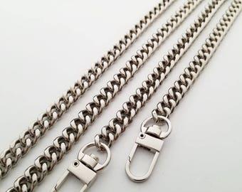 silver chain strap Replacement Chain Shoulder Strap Chain twist links Purse clutch bag wallet handbag snap clasp Crossbody chain strap 1pcs