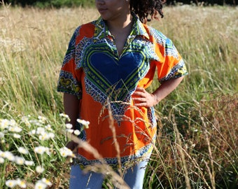 Vintage / 1970's Printed Heart Shirt