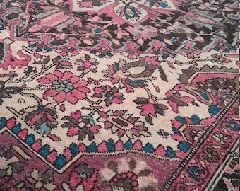 Antique Farahan rug 5.0 x 3.4 ft 145 × 100 cm antique persian rug
