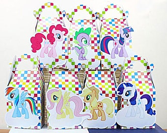 My little pony favor bag, My little pony favor box, My little pony treat box, My little pony Goody box, My little pony party favor box