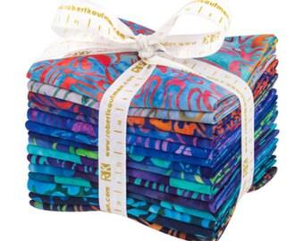 """Robert Kaufman - Artisan Batiks Totally Tropical Fat Quarter Bundle by Lunn Studio - 15 FQ's - 18"""" x 21"""" each FQ - 100% Cotton"""