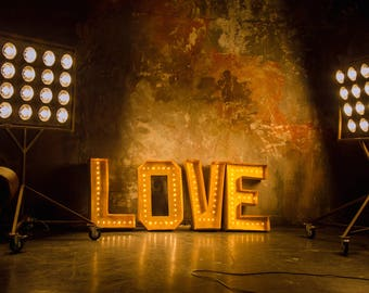 """32"""" Marquee letters LOVE sign, large wedding letters, wedding light up letters, large LOVE letter lights, personalized sign light"""