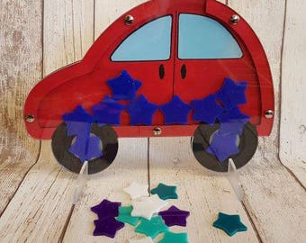 Hand Painted, Personalised Car Reward Jar, Reward Chart, Behaviour Chart, Cars