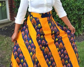 Ankara skirt with slit