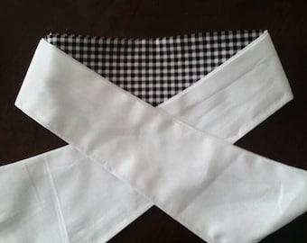 Easy wrap gingham dressage stock tie