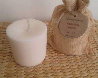 Passion fruit scented candle refill