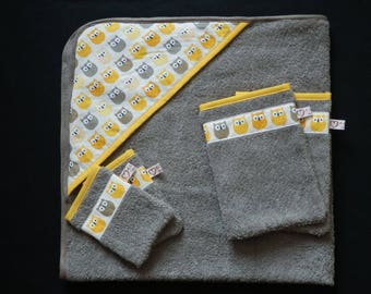 Gray hooded towel to order