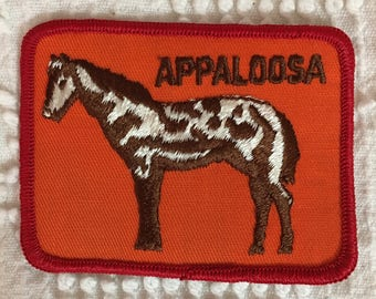 APPALOOSA HORSE Patch Detailed Stitching MINT Condition Agriculture Farming Ranch