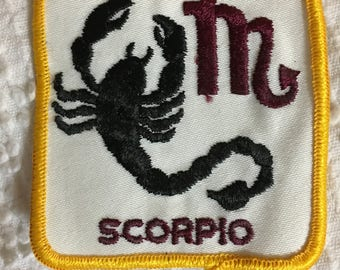 SCORPIO Astrology Horoscope Detailed PATCH Vintage Mint Exc Item ZODIAC