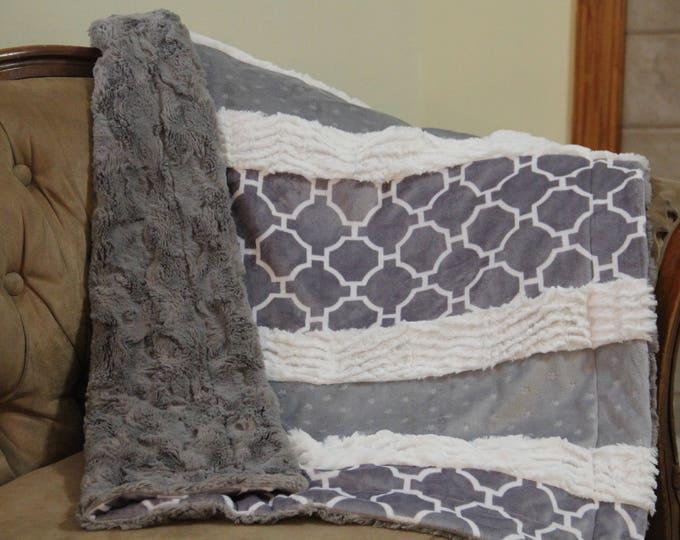 Boho Baby Quilt | Minky Baby Blanket | Stroller Blanket | Newborn Boy Blanket | Newborn Girl Blanket | Baby Shower Gift | Gender Neutral